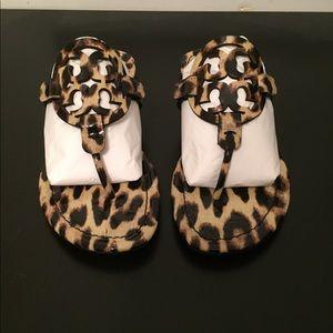 7a2ef84107f4 Tory Burch Shoes - Tory Burch Miller leopard print thong sandals